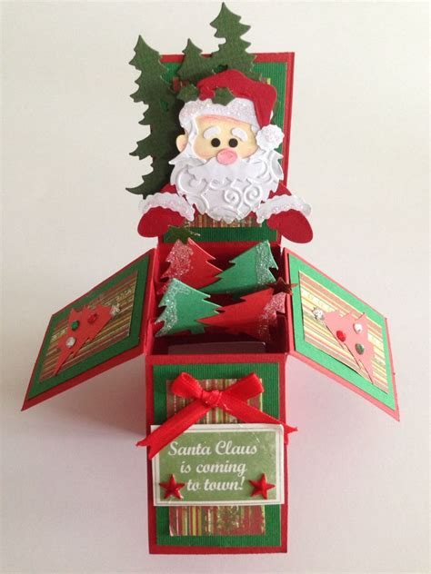 pop up card box template christmas handmade pop up box card card in a box handmade in a box