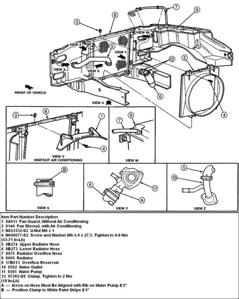 1998 Ford Ranger Cooling System Diagram by How To Remove Lower Radiator Hose On 1994 Ford Ranger Xlt