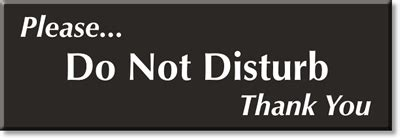 Do Not Disturb Signs   Do Not Disturb Slider signs