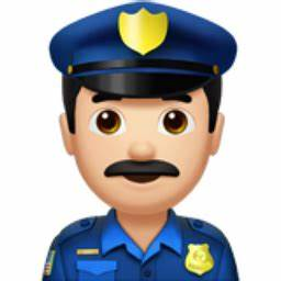 Man Police Officer: Light Skin Tone Emoji (U+1F46E, U+ ...