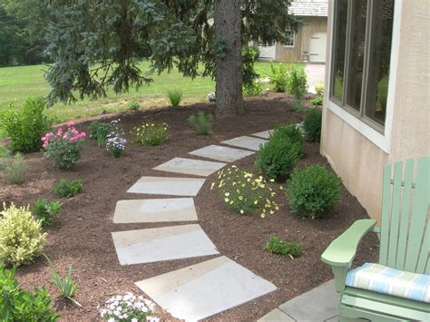 landscape walkway landscape design profile garden with natural stone walkway in malvern pa naturescapes