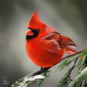 Red Cardinal Painting