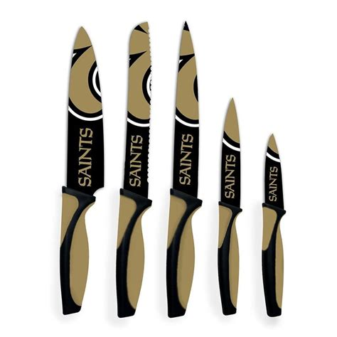 Kitchen Knives New Orleans by New Orleans Saints 5 Kitchen Knife Set Saints