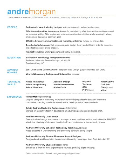 Nicely Designed Resumes by Welcome To The Not So Exciting Land Of Decent Resume Design Whitmankind