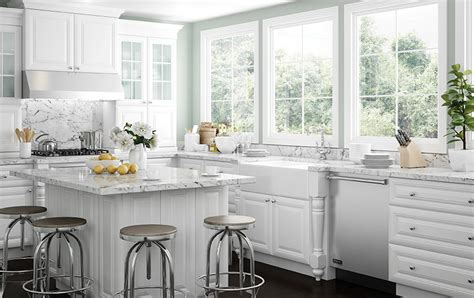 brighton polar white  wood cabinets assembled wood