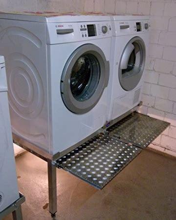 premium waschmaschinensockel aluminium fuer zwei geraete