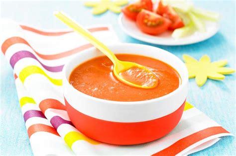 cuisine de bebe gaspacho pour bébé recette cuisine de bébé