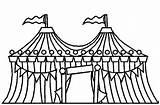 Circus Circustent Tent Kleurplaat Coloring Voor Clown Kp Kleuterdigitaal Kleurplaten Drawings Heart Ruler Stamps Digital sketch template