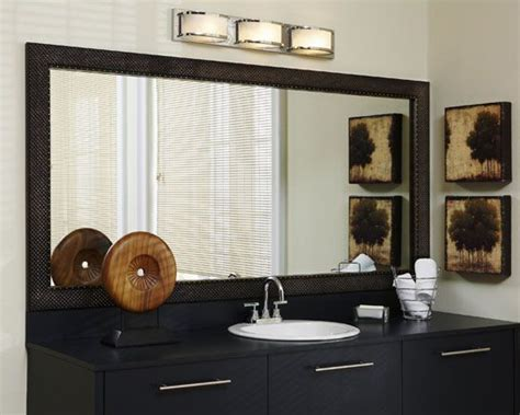 Bathroom Mirror Makeovers by Makeovers Frame A Bathroom Mirror Framing Existing