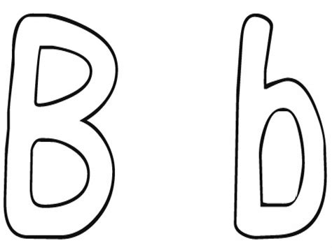 B Coloring Pages Page Image Clipart Images