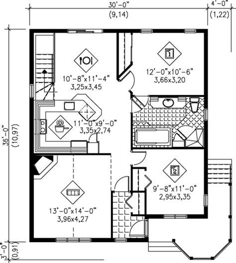 Cottage Style House Plan  2 Beds 1 Baths 1040 Sqft Plan