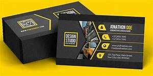 Black Business Card Psd Template Free Download