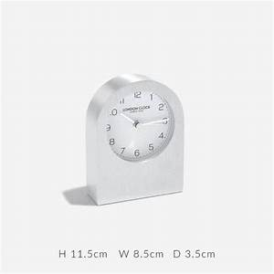04166, Clock, Silver, Metal, Arch, Top, Mantle, White, Dial, London, Clock, Company