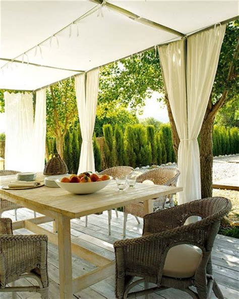 add outdoor drapes to your gazebo