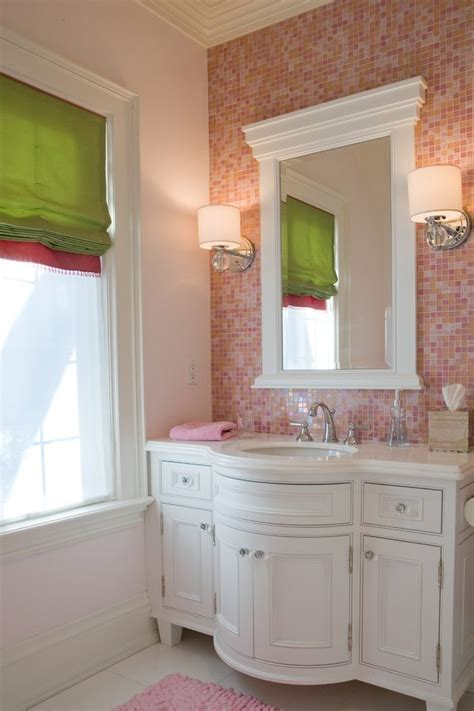 Light Pink Bathroom by Light Pink Bathroom Traditional With And Green Nickel Robe