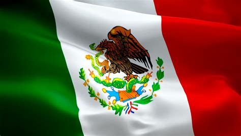 Mexico Waving Flag. National 3d Stock Footage Video (100% ...