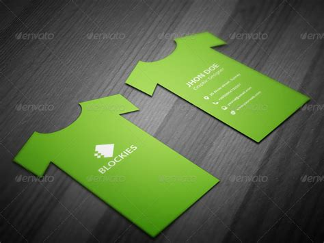 T-shirt Business Card Template By Kazierfan