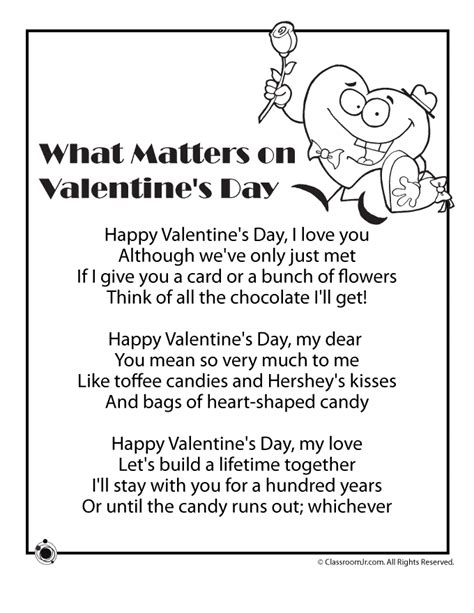 Valentines Poems Kids