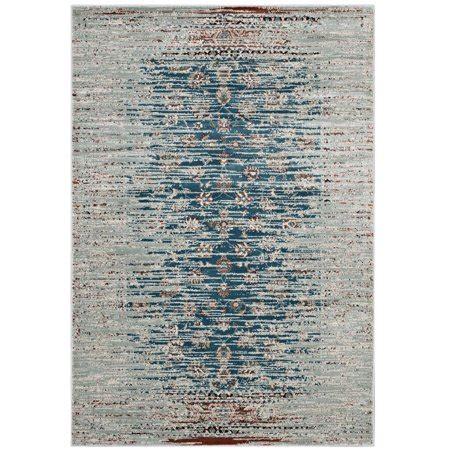 Teal And Brown Area Rugs by Modway Hesper Distressed Contemporary Floral Lattice 8x10