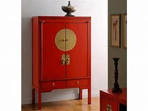 Meuble Chinois Occasion : armoire nantong 2 portes 2 tiroirs cm 3 coloris ~ Teatrodelosmanantiales.com Idées de Décoration