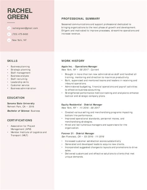Resume For by 30 Resume Exles View By Industry Title
