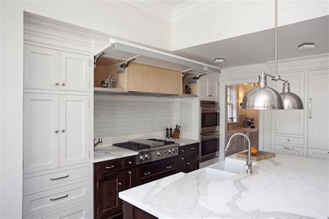 concealed kitchen hood transitional kitchen thomas