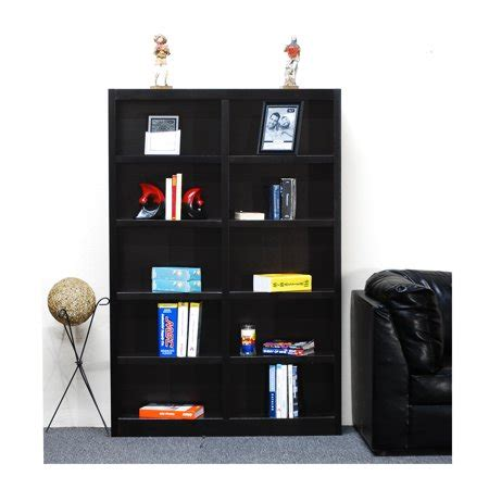 10 Inch Wide Bookcase by 10 Shelf Wide Wood Bookcase 72 Inch
