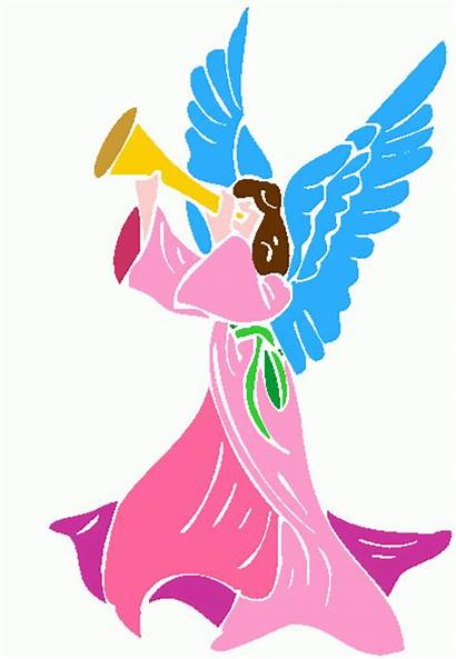 Angel Clip Angels Clipart Christmas Trumpet Blowing