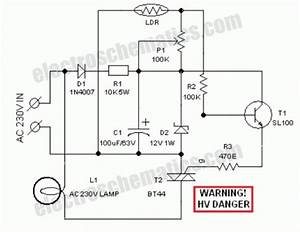 Automatic lawn light with ldr for Light curtain wiring diagram dimming led driver wiring diagram organic