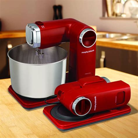morphy richards folding stand mixer red