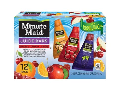 j and j snack food j j snack foods rolls out minute flavored 100 juice bars