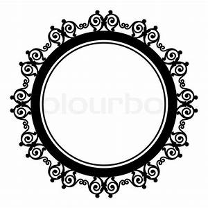 Circle baroque border with leafs.Victorian frame. | Stock ...