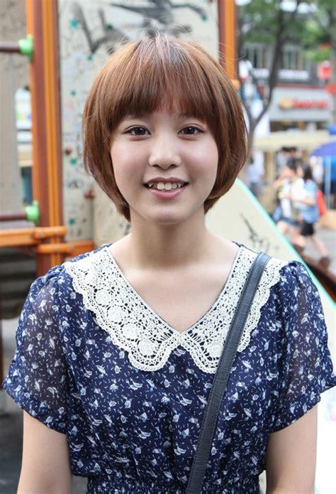 cute korean mushroom haircut with bangs kpop haircut hairstyles weekly