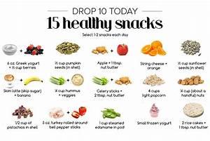 drop 10 pounds snack options bauer