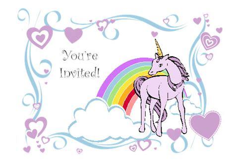 unicorn invitation template free 9 best images of free printable unicorn invitations unicorn birthday invitations