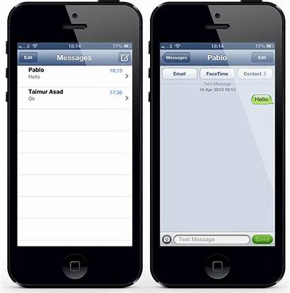 Iphone Message Messages Text App Swipe Screen