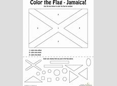 Color the Flag Jamaica Worksheet Educationcom