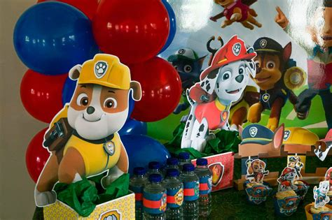 paw patrol centerpieces table decorations