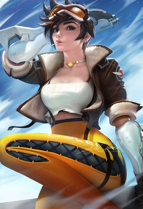 Tracer By Sakimichan Overwatch Know Your Meme