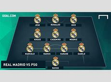 How Real Madrid could line up versus Paris SaintGermain