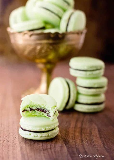 chocolate mint macarons ashlee marie real fun