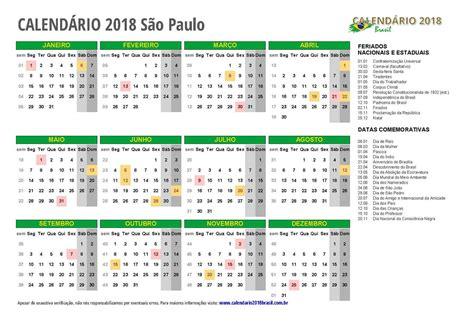 calendario  sao paulo  feriados