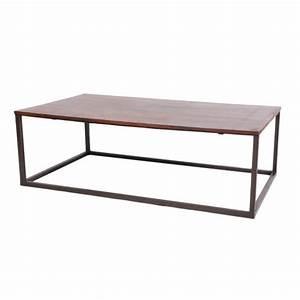 Pied De Table Basse Metal : table basse palissandre pieds m tal mobilier ~ Teatrodelosmanantiales.com Idées de Décoration