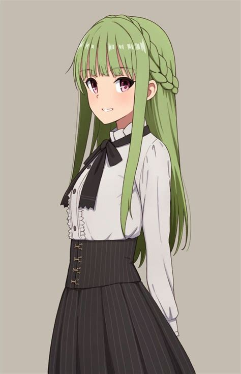 anime girl  green hair anime girls anime anime