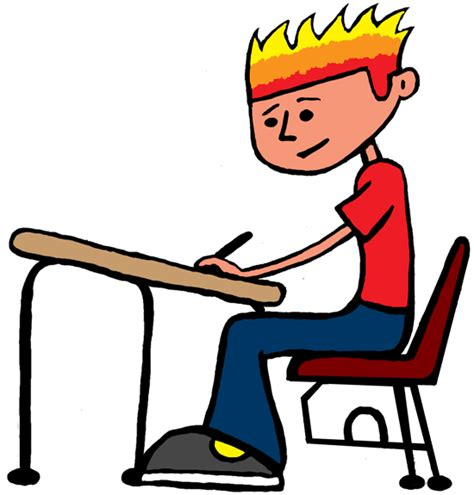 boy student working clipart a world clip academic
