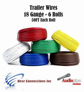 6 Way Trailer Wire Light Cable For Harness Led 50ft Each