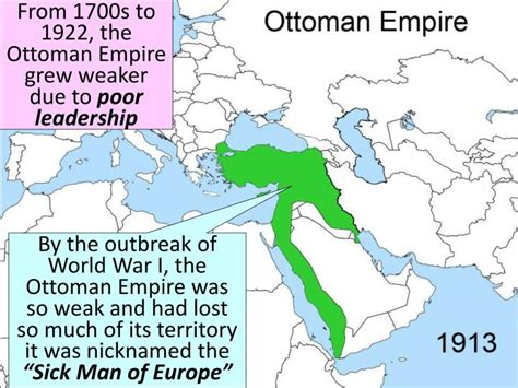 what happened to the ottoman empire after world war 1 what happened when the ottoman empire weakened ppt world