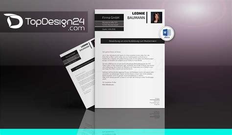 Bewerbung Layout Word by Bewerbungslayout Topdesign24 Bewerbungsvorlagen