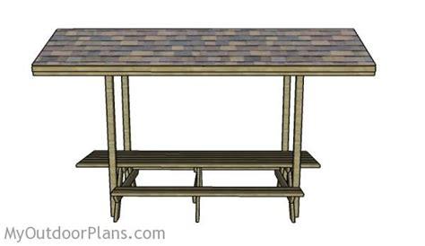 foot picnic table  roof plans myoutdoorplans