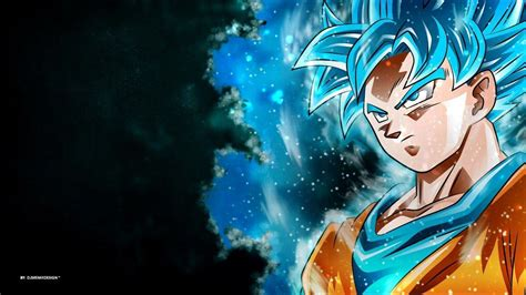 Goku Blue Wallpapers  Wallpaper Cave
